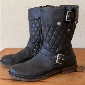 Ugg leather quilted boots